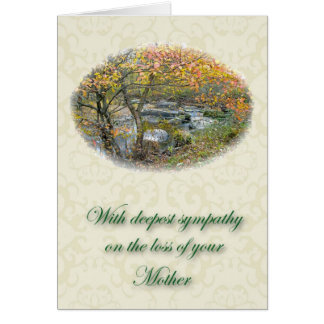 Unami Creek Sympathy Loss of Mother Greeting Card