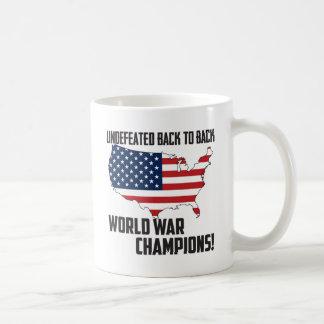 Undefeated Back to Back World War Champions USA Classic White Coffee Mug