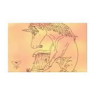 Unicorn and Color Canvas Canvas Print