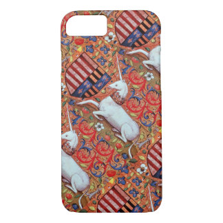 UNICORN AND MEDIEVAL FANTASY FLOWERS,FLORAL MOTIFS iPhone 7 CASE