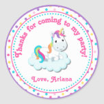 Unicorn Birthday Party Favour Tag Sticker