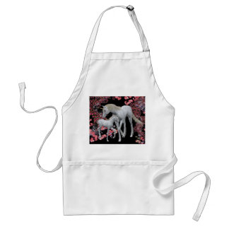 Unicorn Mare And Baby Fantasy Apron