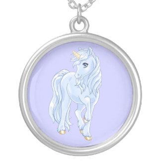 Unicorn Round Pendant Necklace
