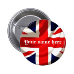 Union Jack (Add your own name) 2 Inch Round Button