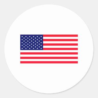 United States Flag The MUSEUM Zazzle Round Sticker