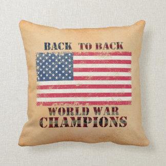 USA, Back to Back World War Champions Pillow