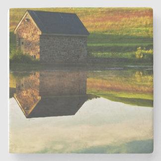 USA, Delaware, Wilmington. Stone barn on edge Stone Coaster