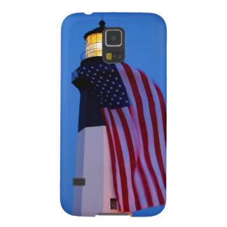 USA, Georgia, Tybee Island, Flag Flying 2 Galaxy S5 Cases