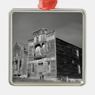 USA, Montana, Elkhorn Fraternity Hall meeting Silver-Colored Square Ornament