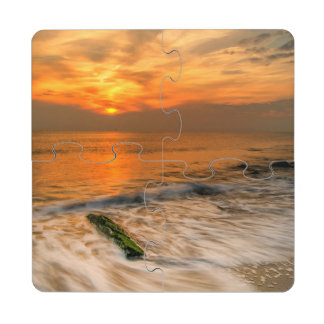 USA, New Jersey, Cape May. Scenic On Cape May 4 Puzzle Coaster