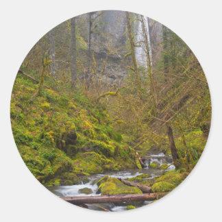 USA, Oregon, Columbia Gorge Round Sticker