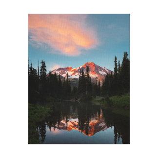 USA, Washington State. Mt. Rainier Reflected Canvas Prints