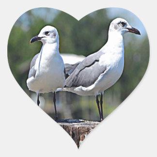 Utah California Gull Heart Sticker