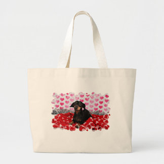 Valentine's Day - Sophia - Dachshund Jumbo Tote Bag