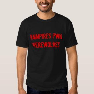 Vampires Pwn Werewolves T Shirts