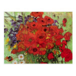 Van Gogh Red Poppies and Daisies, Fine Art Flowers Postcard