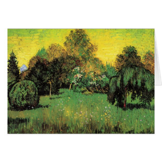 Van Gogh The Poet's Garden Vintage Nature Fine Art Greeting Card