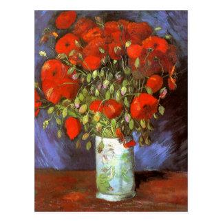 Van Gogh: Vase with Red Poppies Postcard