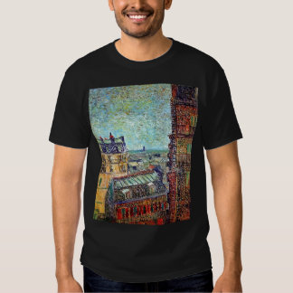 Van Gogh - View Of Paris From Vincents Room Tee Shirts