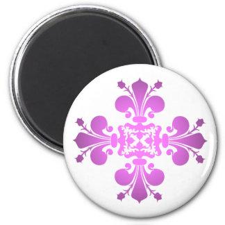Variegated pink purple 2 inch round magnet
