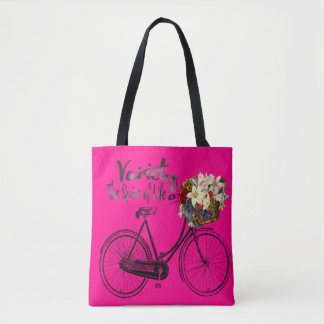 Variety the spice of life bike Pink tote bag