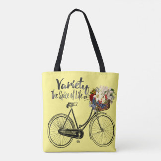 Variety the spice of life bike Yellow tote bag