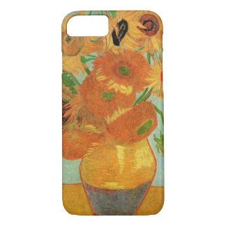 Vase à Van Gogh avec 12 tournesols, beaux-arts de Coque iPhone 7
