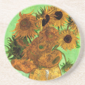 Vase à Van Gogh avec des tournesols, beaux-arts Dessous De Verres