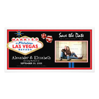 Vegas Destination Wedding Save the Date Photocard Personalized Photo Card