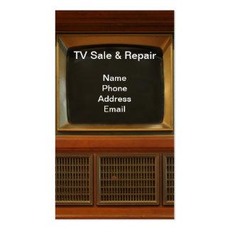 Vente de télévision et services des réparations carte de visite standard