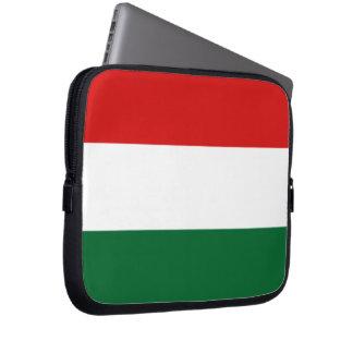Vert blanc rouge de drapeau hongrois housse ordinateur