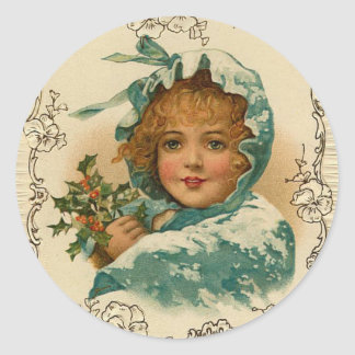Victorian Lady Holiday, Christmas Stickers