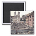 View of the Spanish Steps or Scalinata Square Magnet