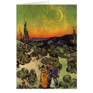 Vincent Van Gogh Moonlit Landscape Greeting Card