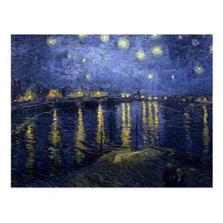 Vincent van Gogh's Starry Night over the Rhone Postcard