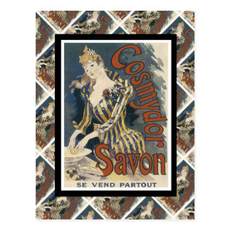 Vintage advertising, French soap Postcard