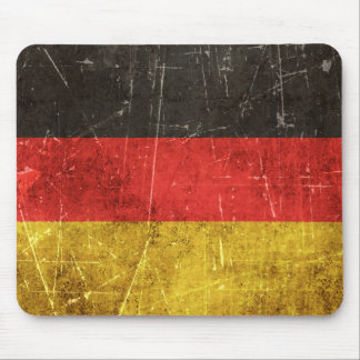 Vintage Aged and Scratched Flag of Germany Mouse Pad