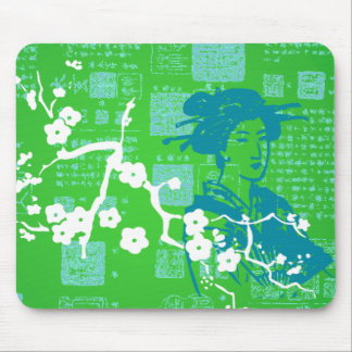 Vintage Asian Collage Mouse Pad