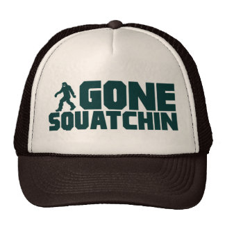 vintage Bobo GONE SQUATCHIN Hat Finding Bigfoot