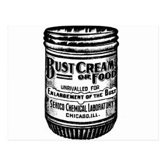 Vintage Bust Cream Advertisement Postcard