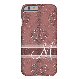 Vintage Chic Classic Floral Pretty Brocade Pattern Barely There iPhone 6 Case