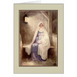 Vintage Christmas Jesus and Mary Greeting Card