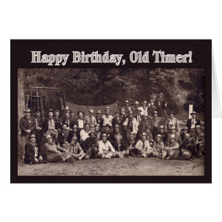 Vintage Cowboy Happy Birthday Greeting Card