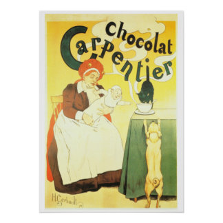 Vintage French chocolate advertisement Carpentier Poster