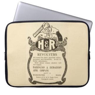 Vintage H&R Firearms Revolver Gun Ad Laptop Sleeve