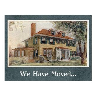Vintage House Change of Address Postcard Template
