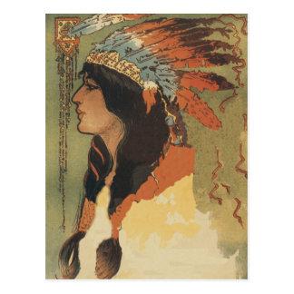 Vintage Indian Girl Postcard