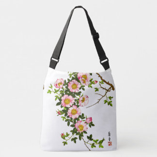 Vintage Japanese Cherry Blossoms, Pink and Gold Tote Bag