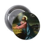 Vintage Jesus Christ Praying in Gethsemane 2 Inch Round Button