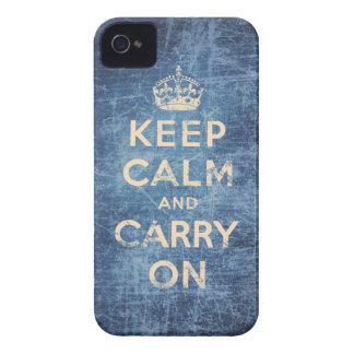 Vintage keep calm and carry on iPhone 4 cover